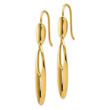 Leslie's 14K Polished Shepherd Hook Dangle Earrings