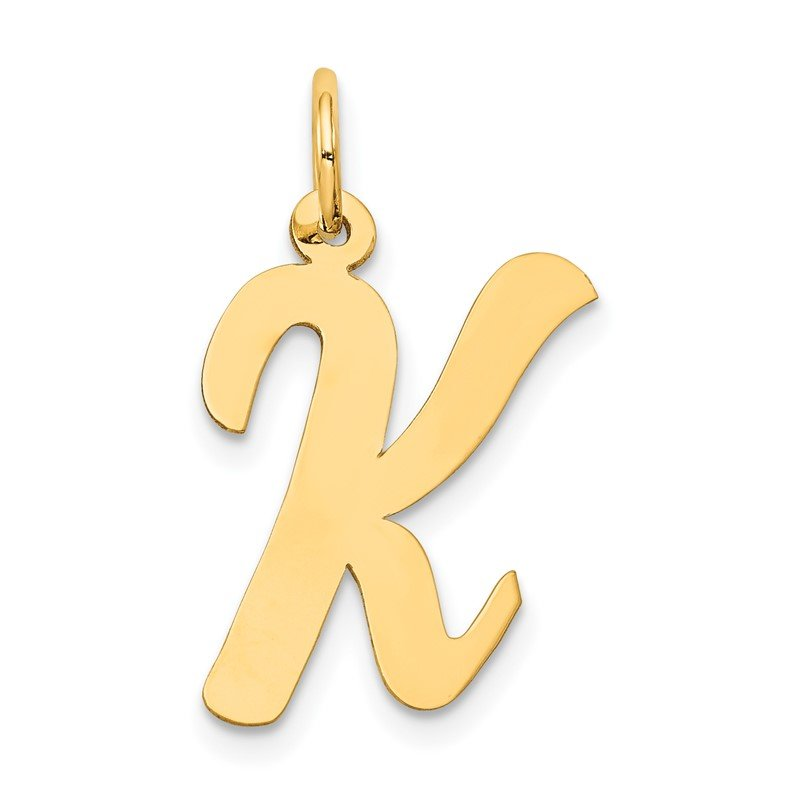 Arizona Diamond Center Collection 14k Large Script Letter K Initial Charm