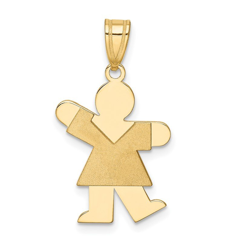 Quality Gold 14k Girl Charm