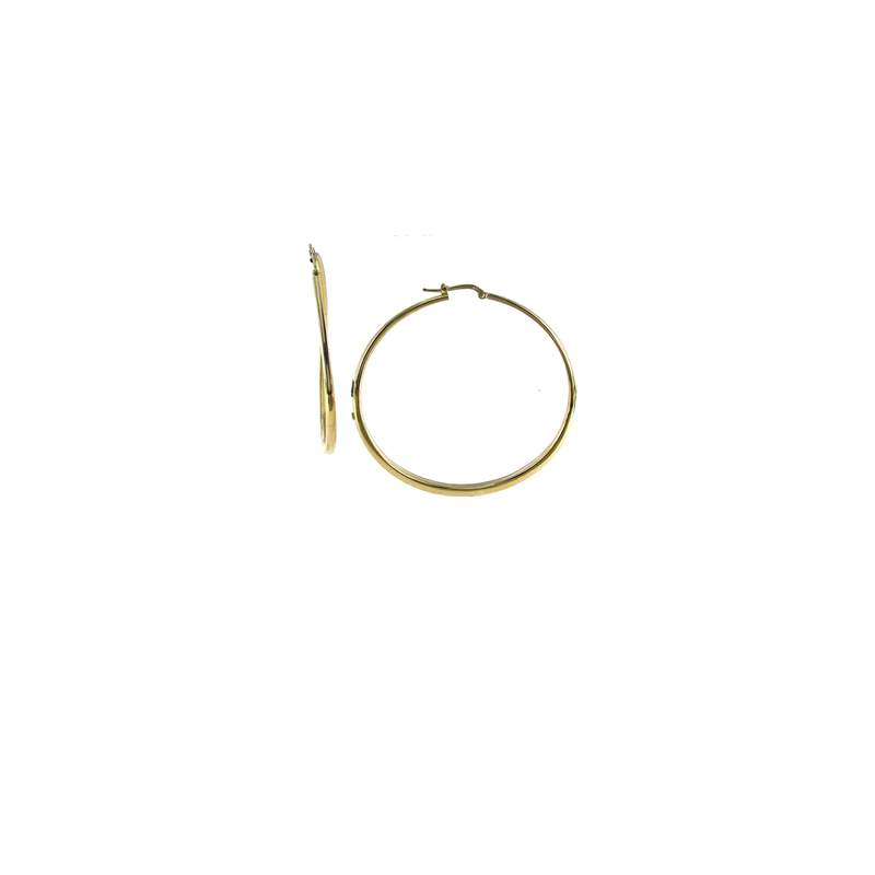 Roberto Coin  #27690 Of 18Kt Gold Xl Graduated Hoop Earrings