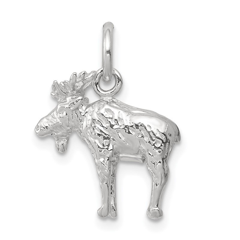 Quality Gold Sterling Silver 3-D Moose Charm