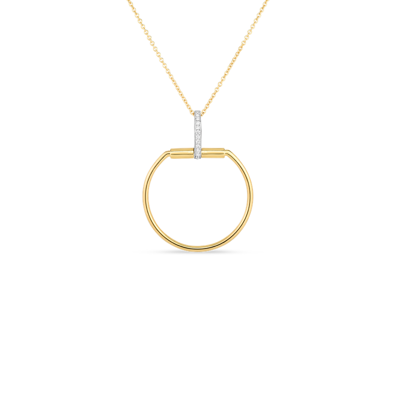 Roberto Coin  #29123 Of 18Kt Gold Necklace With Diamonds