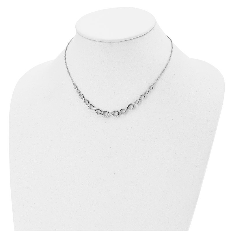 Leslie's Leslie's Sterling Silver Polished Infinity with 2in ext. Necklace
