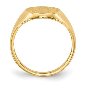 14k 13.0x10.0mm Closed Back Signet Ring