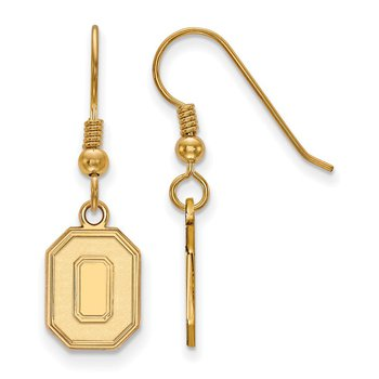 Gold-Plated Sterling Silver Ohio State University NCAA Earrings