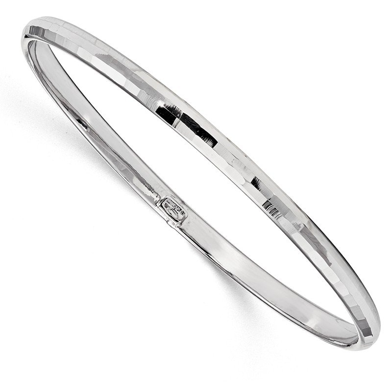 Leslie's Leslie's 10K White Gold Polished Bangle