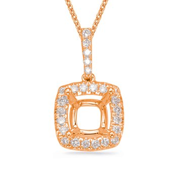 Diamond Pendant For 4.4mm Cushion