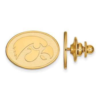 Gold-Plated Sterling Silver University of Iowa NCAA Lapel Pin