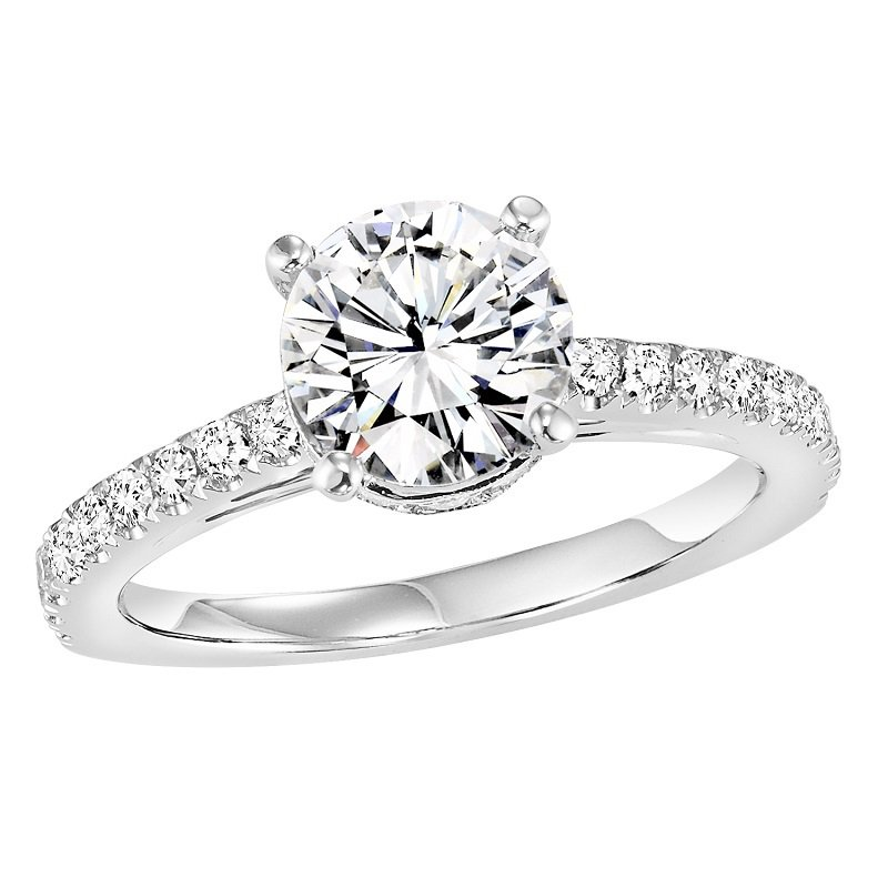 Bridal Bells 14K Diamond Engagement Ring 3/8 ctw with 1 ct Center