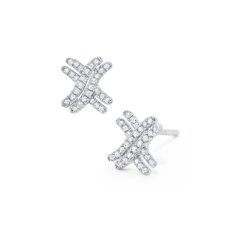 KC Designs Diamond Criss-Cross Stud Earrings Set in 14 Kt. Gold