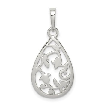 Sterling Silver Filigree Oval Pendant