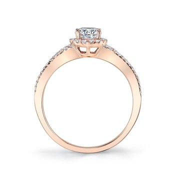 MARS 25386 Diamond Engagement Ring 0.08 Ctw.