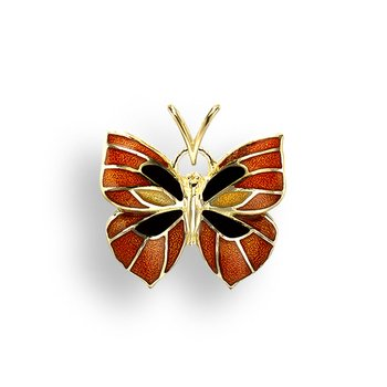Orange Butterfly Pendant.18K
