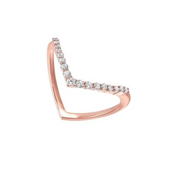 Diamond 3-Stone Marquise Pattern Stackable Ring in 10k Yellow Gold (1/4ctw)