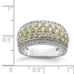 Quality Gold Sterling Silver Rhodium-plated Yellow & White CZ Fancy Ring