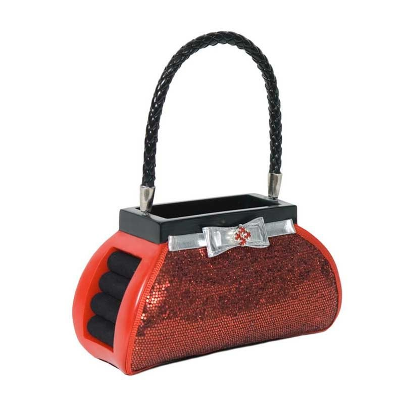 Luxury Giftware by Jere Brush/Phone Holder  Red Sequin