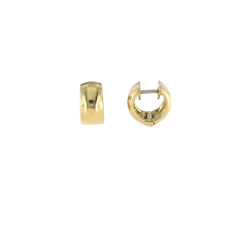 18KT YELLOW GOLD SMALL HINGED HOOPS
