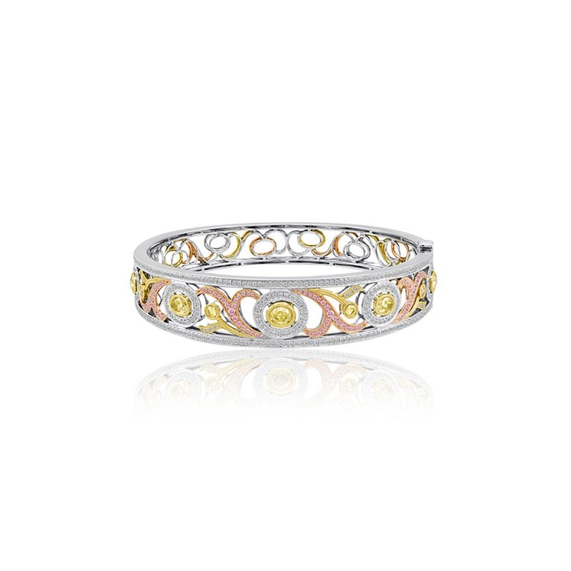 Roman & Jules Tri-Color Diamond Bangle
