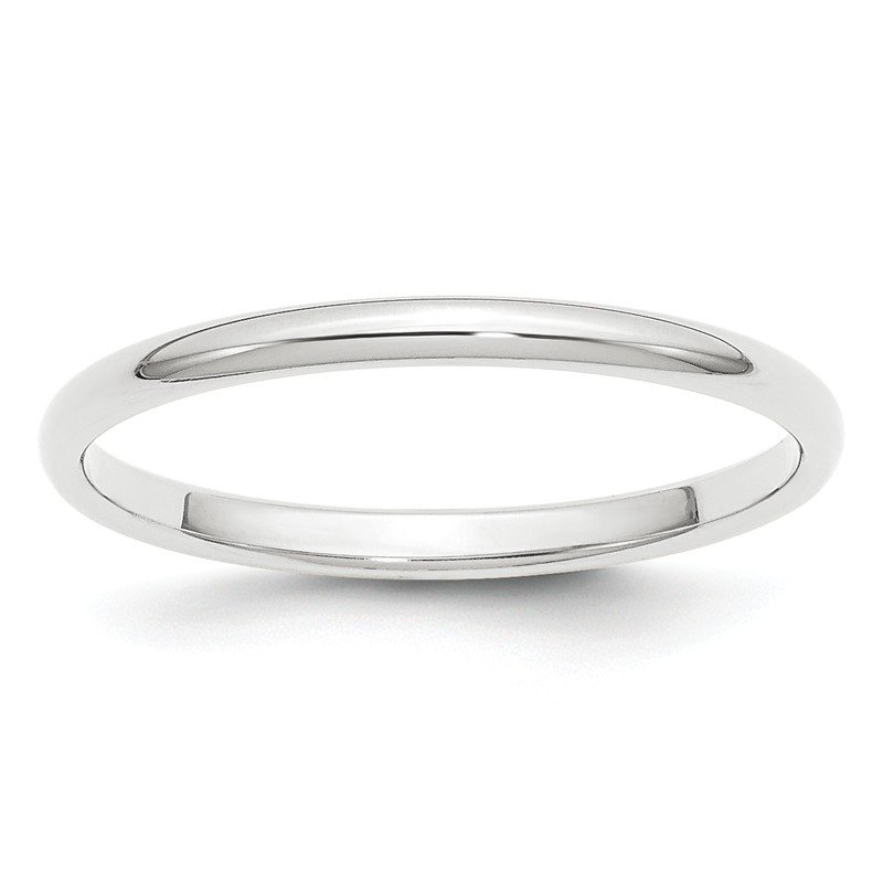 Quality Gold Platinum 2mm Half-Round Wedding Band