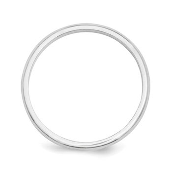 Platinum 2mm Half-Round Wedding Band