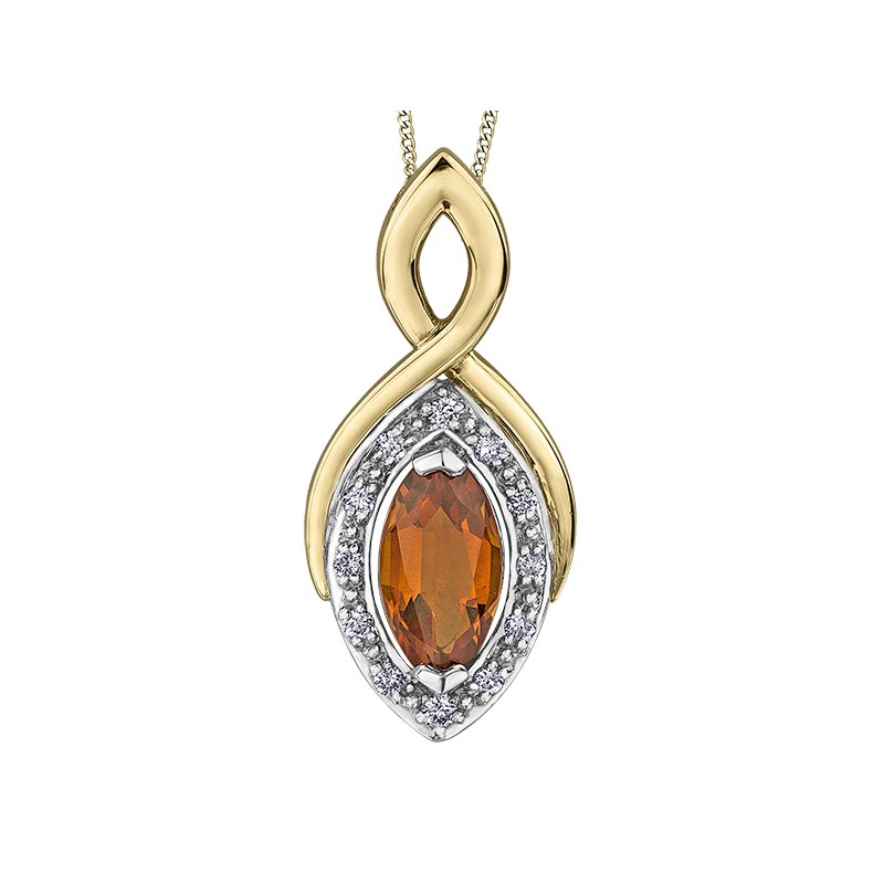 Diamond Days Citrine Pendant
