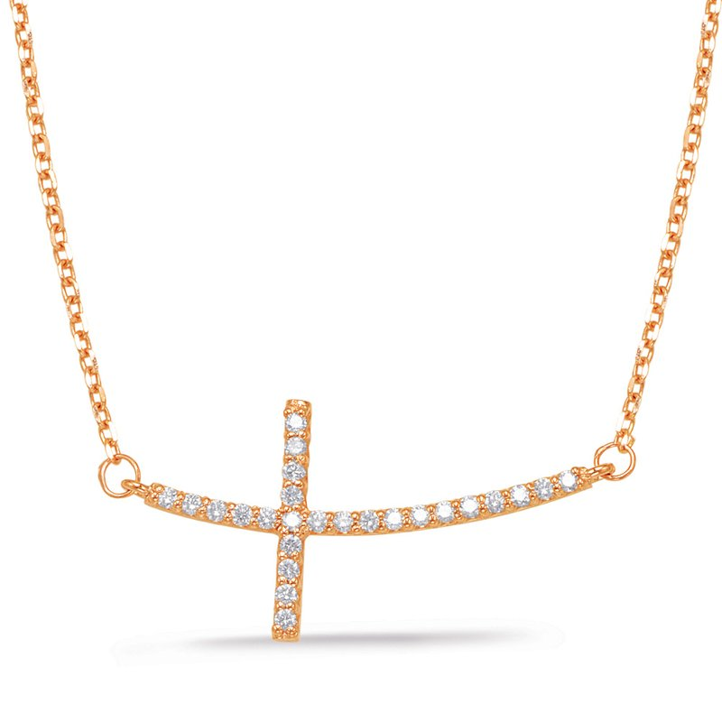 S. Kashi  & Sons Rose Gold Cross Necklace