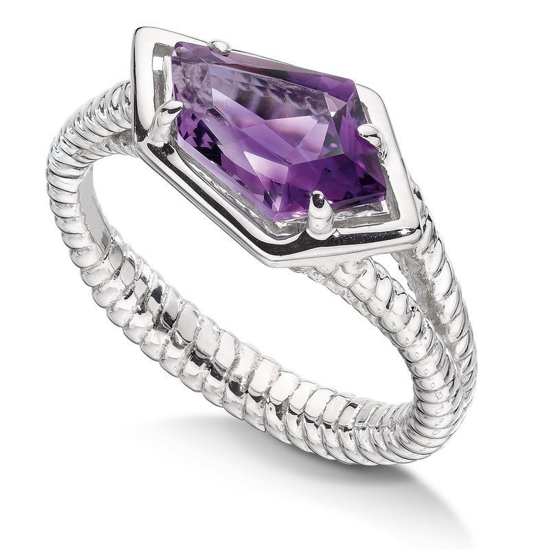 Colore Sg Sterling silver and purple amethyst ring