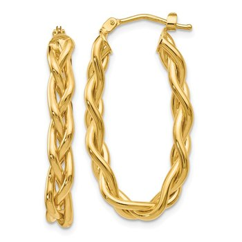 Leslie's 14k Braided Hoop Earrings