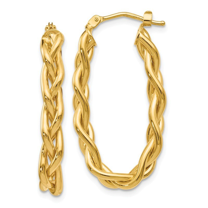 Leslie's Leslie's 14k Braided Hoop Earrings