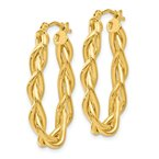 Leslie's Italian Gold Leslie's 14k Braided Hoop Earrings