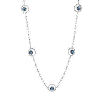Floating Drops Necklace featuring London Blue Topaz