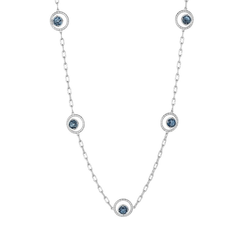 Tacori Fashion Floating Drops Necklace featuring London Blue Topaz