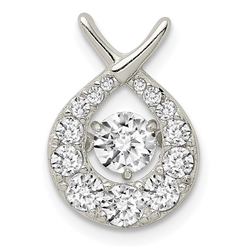 Quality Gold Sterling Silver Vibrant CZ Pendant
