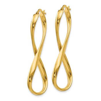 Leslie's 14K Polished Infinity Hoop Earrings