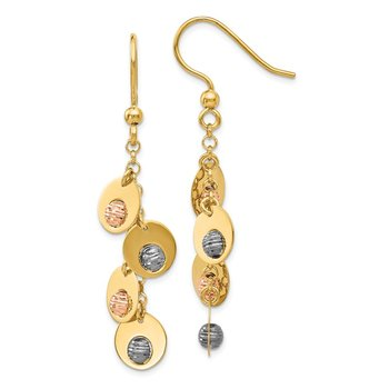 Leslie's 14k Tri-Color Fancy Earrings