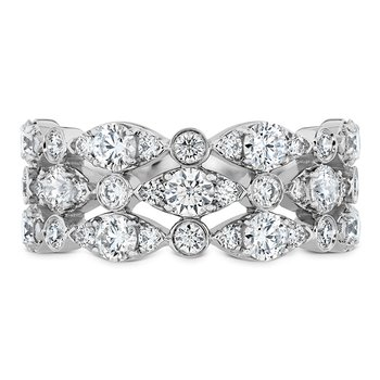 1.6 ctw. HOF Bezel Regal Triple Ring