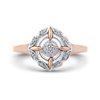Essentials 10K White & Rose Gold .06 Ct Diamond Fashion Ring
