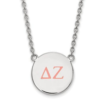 Sterling Silver Delta Zeta Greek Life Necklace