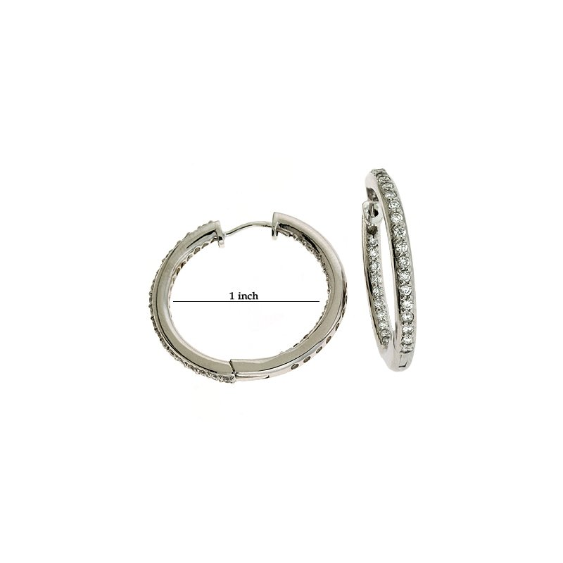 S. Kashi  & Sons Inner Set Loop Earring