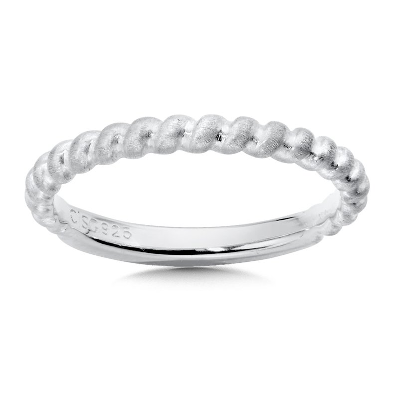 Colore Sg Sterling Silver Stacking Band