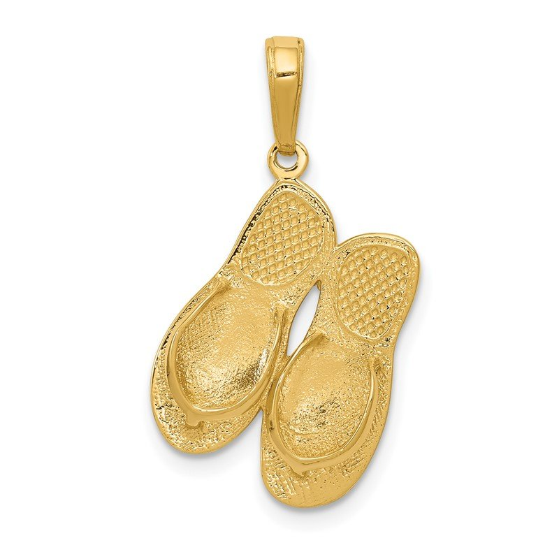 Arizona Diamond Center Collection 14k 3-D Maui Aloha Flip-Flops Pendant