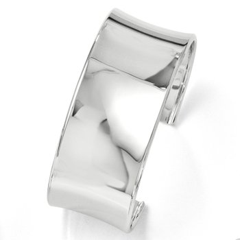 Leslies Sterling Silver Polished Slip-on Bangle