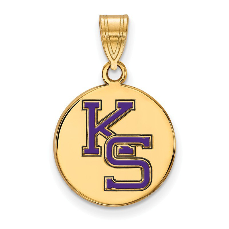 NCAA Gold-Plated Sterling Silver Kansas State University NCAA Pendant