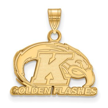 Gold Kent State University NCAA Pendant