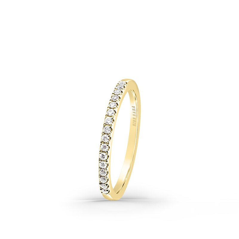 Pave Classic Straight Diamond Wedding Band
