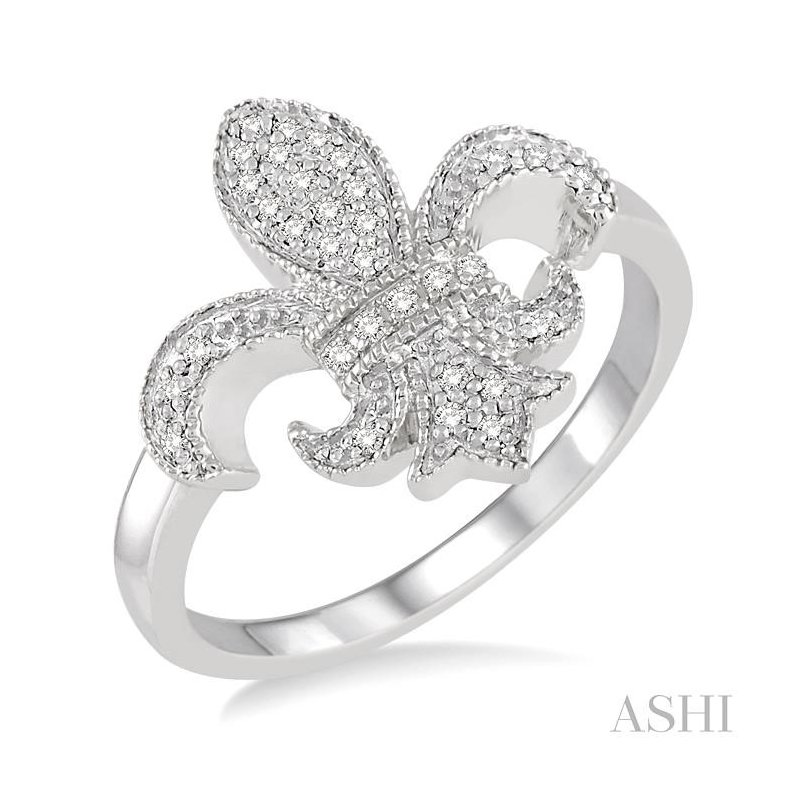 Barclay's Signature Collection diamond fleur de lis ring