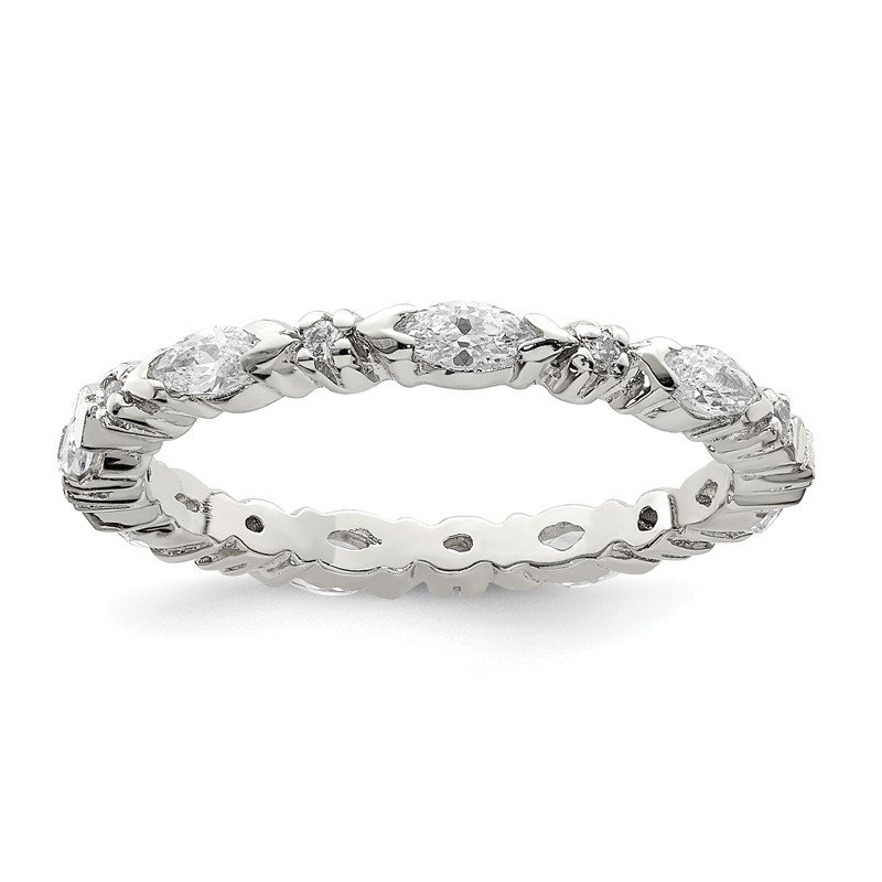 Quality Gold Sterling Silver CZ Band
