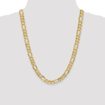 14k 8.75mm Concave Open Figaro Chain
