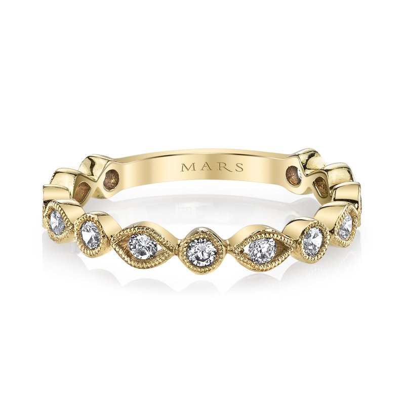 MARS Jewelry MARS 26210 Stackable Ring, 0.38 Ctw.