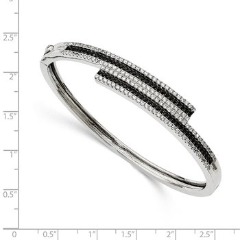 Sterling Silver & CZ Brilliant Embers Bangle Bracelet
